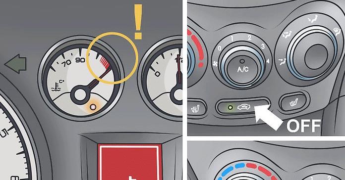 Aracınızın aşırı ısındığını düşünüyorsanız A / C'yi kapatın ve ısıyı açın.