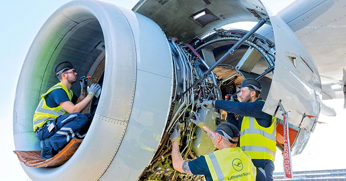 Uçak Motoru bakımı