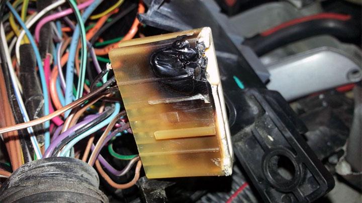 Yanan Elektrik Bileşenleri/Yıpranmış Sigorta